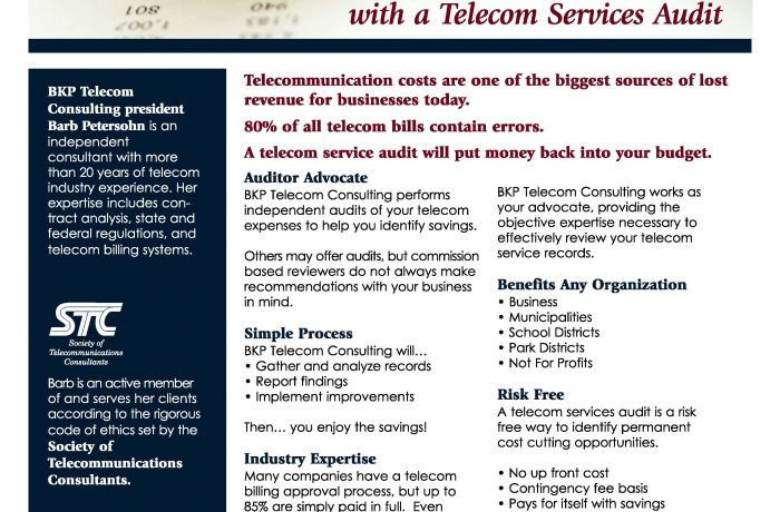 Marketing Collateral – BKP Telecom Consulting Sell Sheet